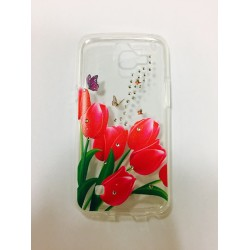 Dėklas LG K500 X Screen silikoninis Clear Diamond Tulip