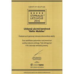 Stipriausi Lietuvoje 2016